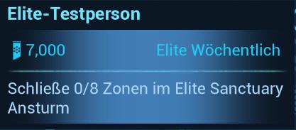 Warframe Nightwave (Der Glasmacher) Elite Wöchentlich Elite-Testperson