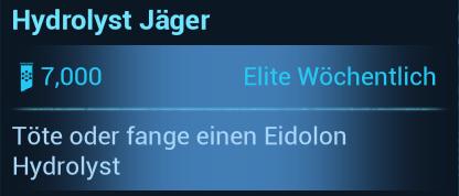 Warframe Nightwave (Der Glasmacher) Elite-Wöchentlich Hydrolyst Jäger