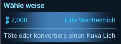 Warframe Nightwave (Der Glasmacher) Elite-Wöchentlich Wähle weise